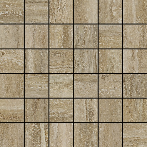 Италон Travertino Silver Mosaico Cerato