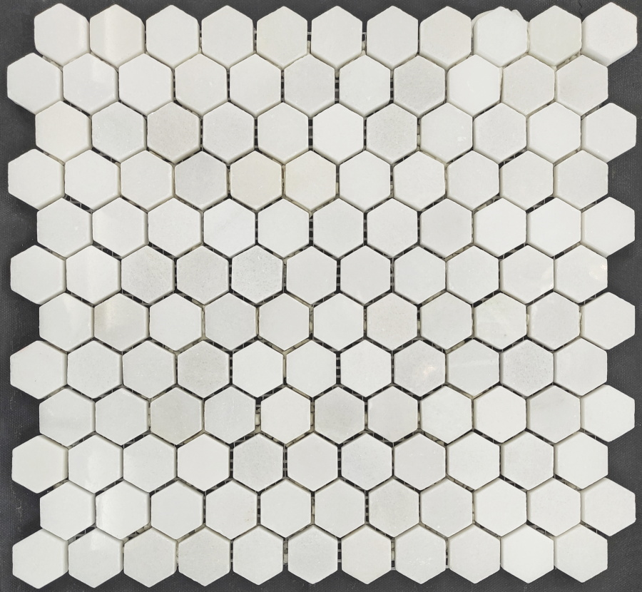 Colori Viva Statuario Polished Pure White Hexagon