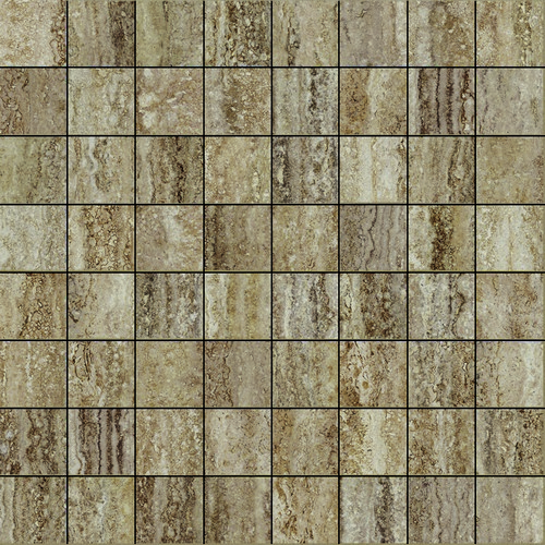 Италон Travertino Silver Mosaico Lux