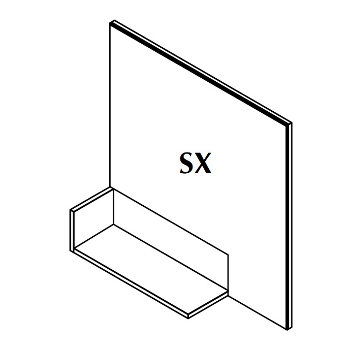 IN Зеркало Sx 90x90x18 Silese Brillo