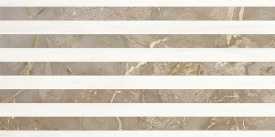 Marmocer Diana White 01 Matrix Tile Diana White+Desert Grey