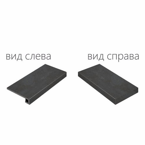 Италон Surface Steel Scalino Angolare Destro (Угловая Правая) Nat